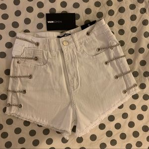 Fashionova White Denim Shorts